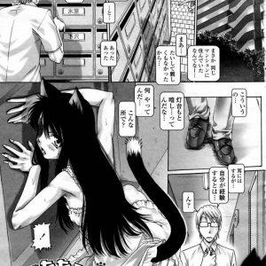 【エロ漫画】娘を拉致られた擬人化猫娘は助けてもらった人間を逆夜這いでお礼をするも興奮した人間に滅茶苦茶犯されます!