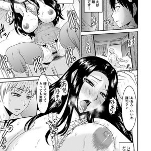 【エロ漫画】若い男と不倫する巨乳人妻は息子のセックスの覗かれているとも知らずに若い男とハメる日々!