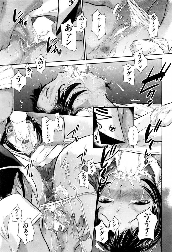【エロ漫画】神様の子種を中出しする儀式に選ばれたJK&JDたちは巫女服のまま何度も犯され神様の子種を中出ししてもらう【はらざきたくま/祭りの巫女】