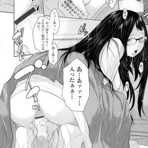 【エロ漫画】むっつりスケベな巫女をおびき寄せるため男たちと酒盛りを始め乱交セックスをするスケベ巫女。籠もっていた巫女を現れ一緒に乱交セックスで精液まみれになっちゃう。【はらざきたくま/天空の杜】