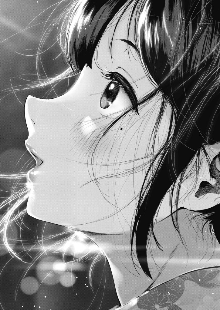【エロ漫画】彼女の自宅から見える花火を一緒に見てたら花火を見る彼女の横顔が可愛すぎてガン見してたら気まずい空気になりいちゃラブエッチ突入【じょろり/夏と純】