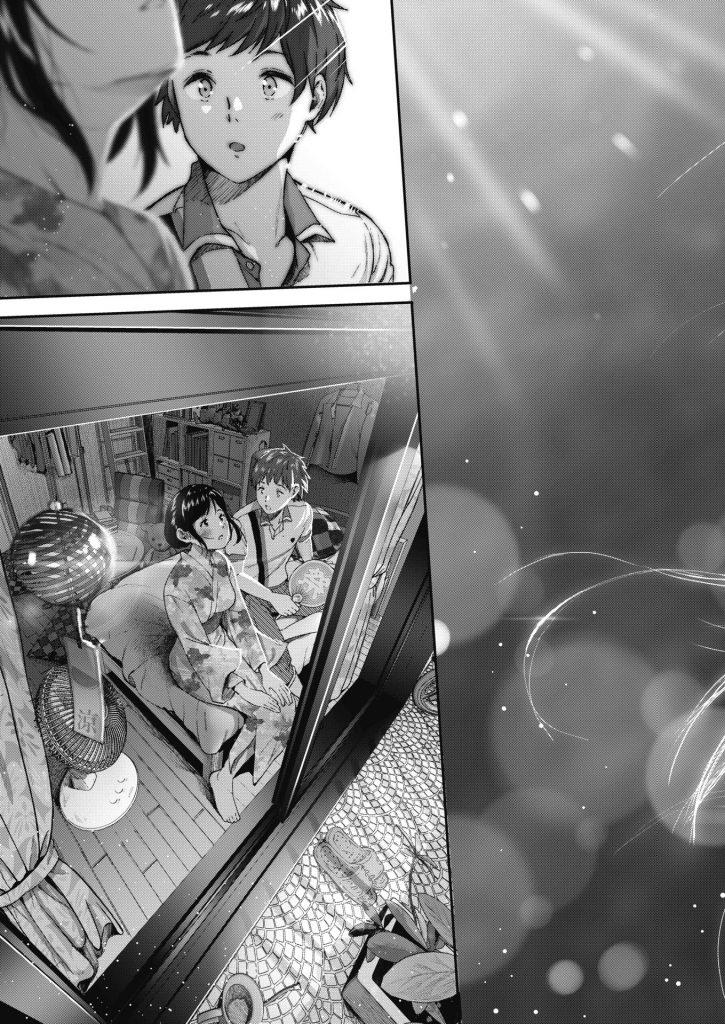 【じょろりエロ漫画】彼女の自宅から見える花火を一緒に見てたら花火を見る彼女の横顔が可愛すぎてガン見してたら気まずい空気になりいちゃラブエッチ突入【夏と純】